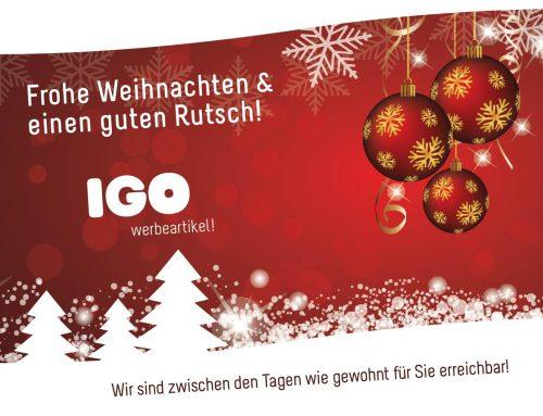 IGO Werbeartikel wünscht Frohe Weihnachten!